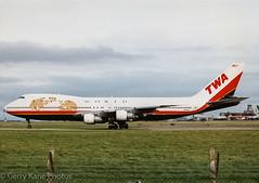 TWA Boeing 747 N93108 EIDW (gerrykane214) Tags: from scanned prints