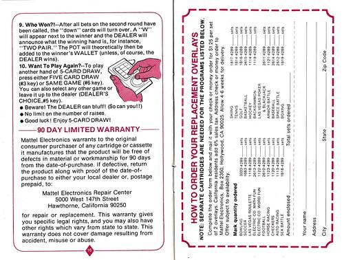 Las Vegas Poker Blackjack Instructions A Photo On Flickriver