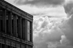 Clouded Perspective (writing with light 2422 [NOT PRO]) Tags: seattle abstract building clouds bigron sonya77 happywindowswednesday richborder cloudedperspective