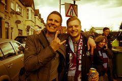 Matt and Tom (The_Kevster) Tags: portrait men london vintage football nikon brothers tint days fans dslr greenstreet supporters eastend eastlondon hammers irons westhamunited 2016 westham premierleague newham uptonpark boleyn e13 nikkor1855mm londoneast nikond3300 lastdaysoftheboleyn