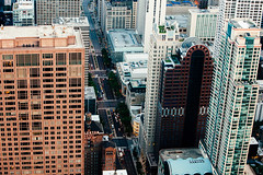 Chicago - Michigan Avenue (vincos) Tags: urban usa chicago landscape skyscrapers fromabove