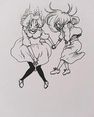 13268166_10205712715567186_3328010336730798213_o (iohohoh) Tags: girls friends cute art illustration pen fly artwork drawing picture pic falling illustrator draw soaring soar illust      vsco inktober vscocam iohohoh