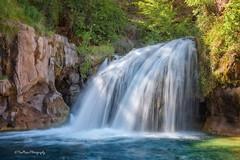 Waterfall's Passage (TreeRose Photography) Tags: trees light arizona sunlight water creek river waterfall rocks stream foliage cascade sidelight fossilcreek