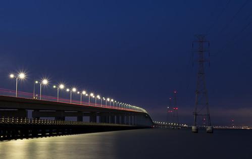 San Mateo Bridge At Night
