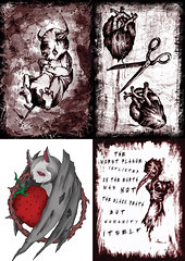 New prints available through my store, ranging from down right cute to the down right depraved and angry (daniel.thorn) Tags: cute love dark dead death sadness artist sad darkness heart cut bat satan depression demon devil depressed insanity deviant plague darkart plaguedoctor