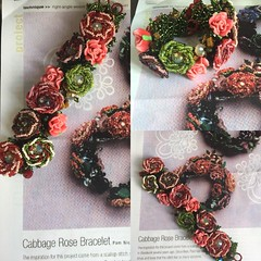 #beadwork more beaded roses with less small #resin flowers #rightangleweave (ExoticDesigns) Tags: resin beadwork rightangleweave