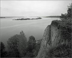 .  8 (Yuriy Sanin) Tags: blackandwhite rock river island largeformat dnepr foma sanin   dnipro yuriy    topcor