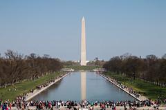 Vue du Lincoln Memorial (Seb & Jen) Tags: usa washington districtofcolumbia memorial unitedstates obelisk lincoln obelisque étatsunis