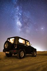 Jeep-2 (aliffc3) Tags: desert jeep sanddunes qatar mesaieed milkyway wrangler vialatte tamron2470f28 nikond750
