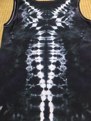 ladies tank backside (asiadyer) Tags: japan japanese symmetry textile sacred tiedye dye dyeing psychedelic dyed shibori psychedelica sacredgeometry sarashi japanetsy shiboripsychedelic