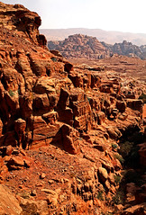 Path to the Monastery 47 (David OMalley) Tags: world city heritage rose rock stone site desert path petra siq carving unesco east jordan monastery arab middle carvings jordanian monumental jebel nabatean nabateans hewn maan almadhbah