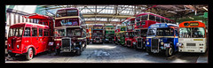 Back in Time (Kevin From Manchester) Tags: panorama heritage history buses museum manchester northwest transport panoramic lancashire hdr canon1855mm kevinwalker canon1100d