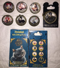 Through the Looking Glass Pins (Amarianama) Tags: mystery pin disney limitededition madhatter whiterabbit redqueen alicethroughthelookingglass