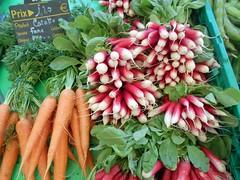 Cahors France 016 (artnbarb) Tags: france radishes market carrots cahors vegetabgles