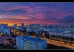 Epic Ember (musicexpression) Tags: sunset panorama cityscape ember stmichael hdb jtc housingestate toapayoh burningclouds eveningskies jalanbahagia jalantenteram pieexpressway