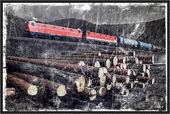 "Old Postcard ("" Wiener Schule "") Tags: railroad train austria tank eisenbahn railway freight bb semmering obb oebb 1144 tankcars 1044 colourkey semmeringbahn schlglmhl 1144040"