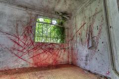 Sanglante Boucherie (AleX.D - SuShY**) Tags: red canon rouge uga sanatorium exploration sang hdr 1022 urbex urbaine horreur boucherie sanglante