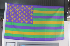 French Quarter - Vieux Carr (Flagman00) Tags: usa green colors gold us purple unitedstates stripes flag neworleans american frenchquarter bandera fleurdelis mardigras 13 thequarter vieuxcarr lanouvelleorlans