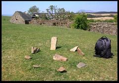 Tiny Stone Circle (zweiblumen) Tags: uk scotland alba isleofarran stonecircle polariser machriemoor northayrshire eileanarainn canoneos50d zweiblumen
