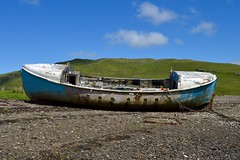 Can y Don (rustyruth1959) Tags: wood blue sky abandoned beach scotland boat nikon isleofskye outdoor vessel aberystwyth highland lifeboat loch nikkor wreck rnli carbost lochharport nikond3200 canydon