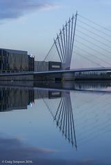 ITV, Salford Quays. 23rd June 2016. (craigdouglassimpson) Tags: england water reflections morninglight bridges salfordquays lancashire coronationstreet itv mediacity