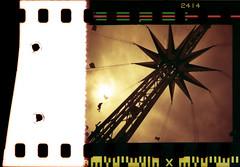 Skyrider (pho-Tony) Tags: red orange color colour film 35mm iso200 kodak alt olympus homemade cast analogue xa process zuiko alternative xa3 olympusxa kodacolor poundland redscale olympusxa3 redscalefilm respool  topstails