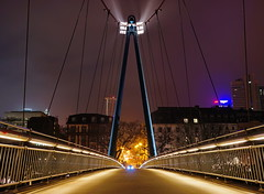 Holbeinsteg 3 (stephan.hickisch) Tags: city bridge light urban night germany evening frankfurt main financial metropole holbeinsteg
