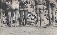 june 24th jones beach los dias contados (kurberry) Tags: collage blackwhite cutpaste vintageephemera collageaday losdiascontados analoguecollage