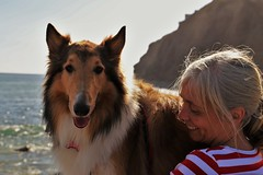 You know what i love about people?? Their dogs!! (vizzaars) Tags: ocean california dog love smile canon photography collie friendship pch danapoint lifeisgood bestfreind