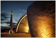 Mosque, Islamic center Rijeka, Croatia (aviana2) Tags: rijeka croatia mosque islam islamiccenter sculptura minaret munara wideangle ramadan aviana2 sonya7 bluehour fotocompetitionbronze