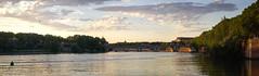Garonne - Toulouse (Arnaud Gremillon) Tags: fleuve eau coucher de soleil panorama toulouse pont brique ciel nuages
