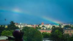27/06/2016 day 309 : Rainbow after the storm (shaye.photo@yahoo.fr) Tags: city sky storm paris building weather rainbow sunny stormy figurine miss meteo arcenciel iphone project365 365days 500px 365photos iphonephoto missmeteo ifttt iphone6s