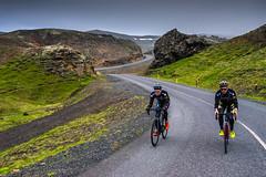 DSC07548 (Gumundur Rbert) Tags: sky white mountain black 35mm cycling climb iceland cloudy f14 sony climbing rolf prima reykjavk sland ares a7ii pansonic samyang reihjl rokinon