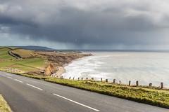Squall! IMG_0408 (s0ulsurfing) Tags: s0ulsurfing 2016 isle wight coast coastal coastline weather clouds compton rain squall road