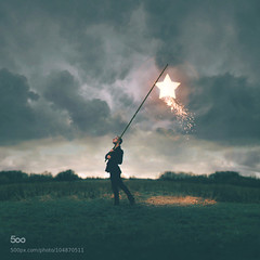 Photo (plaincut) Tags: light sky man art field clouds fire photography star design cool stick spark joelrobison plaincut