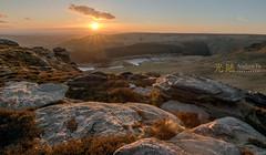 Sunset on Dean Rocks, Saddleworth (awhyu) Tags: sunset hdr tameside exposureblend dovestonereservoir aldermanhill yeomanhayreservoir saddleworthmoors ashwayrocks andrewyuphotography lightroom6