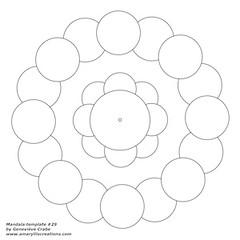 Mandala template 29 (Amaryllis Creations) Tags: mandala zentangle zendala