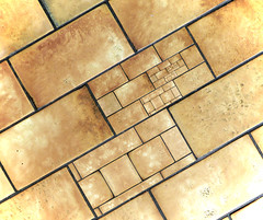 Offcuts (Andrew Gustar) Tags: floor tiles repeat droste mathmap