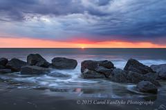 Folly Beach Sunrise (Carol VanDyke) Tags: ocean sunrise spring waves southcarolina rocky charleston follybeach daybreak 2015 markvandykephotography