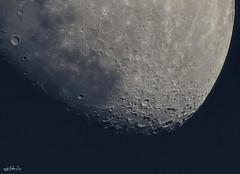Un cuarto de Catalina, para que se vean más cerquita los cráteres. Para tod@s l@s amantes de la Luna... (Lola Cortés Neva) Tags: moon andalucía lola cádiz neva rota cortés lolacortésneva uncuartodecatalina paraqueseveanmáscerquitaloscráteresparatodslsamantesdelaluna