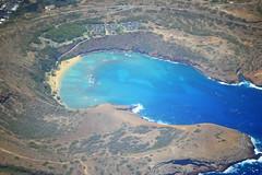 Hanauma Bay, Oahu (Ian E. Abbott) Tags: hawaii oahu aerial snorkeling hanaumabay windowseatplease windowseat hawaiisnorkeling hanaumabaynaturepreserve oahusnorkeling