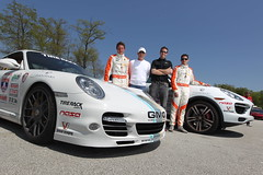 Larry with Porsche Team