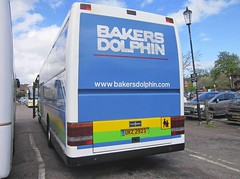Bakers Dolphin of Weston-Super-Mare Fleet No.118 UKZ2923 (rear) (harryjaipowell) Tags: bus volvo coach battle eastsussex westonsupermare 118 wigan 217 vanhool t9 alizée marketroad b10m washearings bakersdolphin ukz2923 w217jbn c46ft battlecoachpark