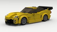 Chevy Corvette C6R (LegoGuyTom) Tags: road city classic cars chevrolet car sport digital race speed america vintage track lego pov designer super racing chevy american legos download vehicle corvette coupe supercar lemans v8 dropbox speedster racer povray 2000s ldd c6r lxf legocity legodigitaldesigner 2010s