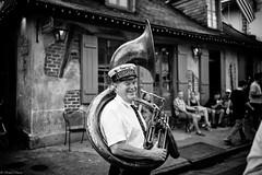 Having Fun (michael.mu) Tags: leica blackandwhite bw musician 35mm louisiana neworleans streetphotography jazz frenchquarter nola bourbonstreet lafittesblacksmithshop m240 secondlineparade leicasummicron35mmf20asph silverefexpro leicasummicronm1235mmasph storyvillestomper kreweofmarcia