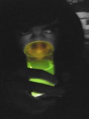 Kriptonita (heliosjaque) Tags: chile bw white black verde green shiny drink lofi osama lowfi kriptonita fosforecente fosforescent
