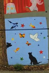 Nemo_3201 rue Jean Baptiste Lamarck Montreuil (meuh1246) Tags: streetart chat nemo bateau animaux oiseau lapin montreuil ruejeanbaptistelamarck