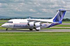 "OO-DJN BAe 146-RJ85 Brussels Airlines MAN 15-08-04 (PlanecrazyUK) Tags: man manchester ringway egcc airport"" 150804 oodjn brusselsairlines bae146rj85 ""manchester"