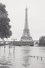 Paris under water (ivanovmaxime) Tags: bw white black paris tower water effeil