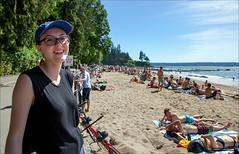 A Bike Ride & A Smile (Clayton Perry Photoworks) Tags: people canada beach vancouver spring bc abby stanleypark thirdbeach explorebc explorecanada